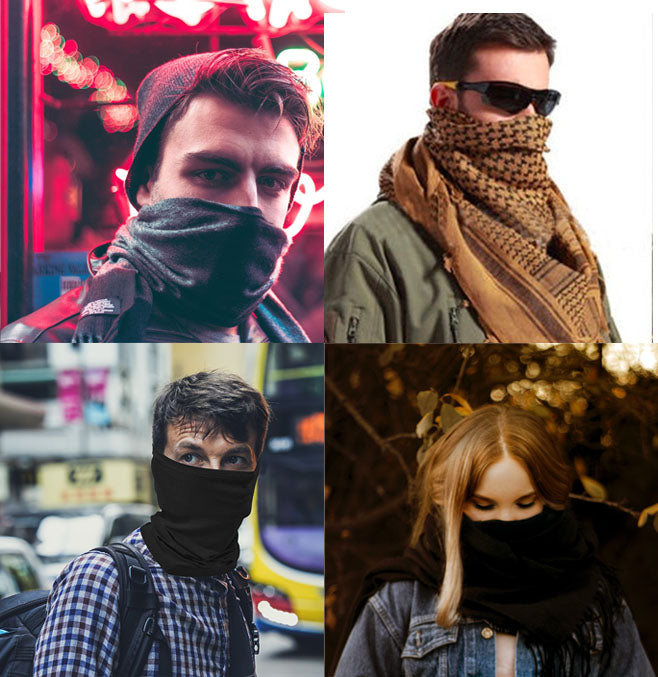 Face Cover Scarf Assorted 3 Pack Multilayer works as Face Mask