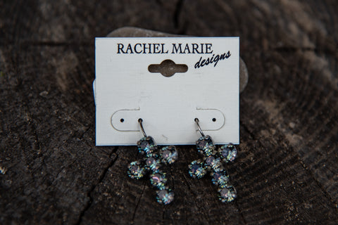 Adrianna Cross Earring Heliotrope by Rachel Marie Designs
