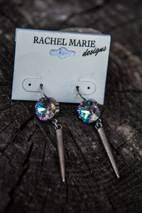 Madi Spike Vitrail Light Swarovski Drop Earring by Rachel Marie Designs