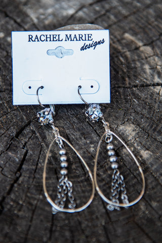 Bailey Swarovski Drop Earring by Rachel Marie Designs