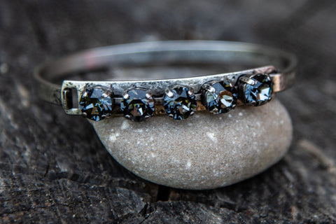 Val Silvernight Bangle by Rachel Marie Designs