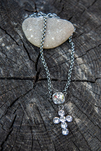 Selah Cross Swarovski Crystal Necklace by Rachel Marie Designs