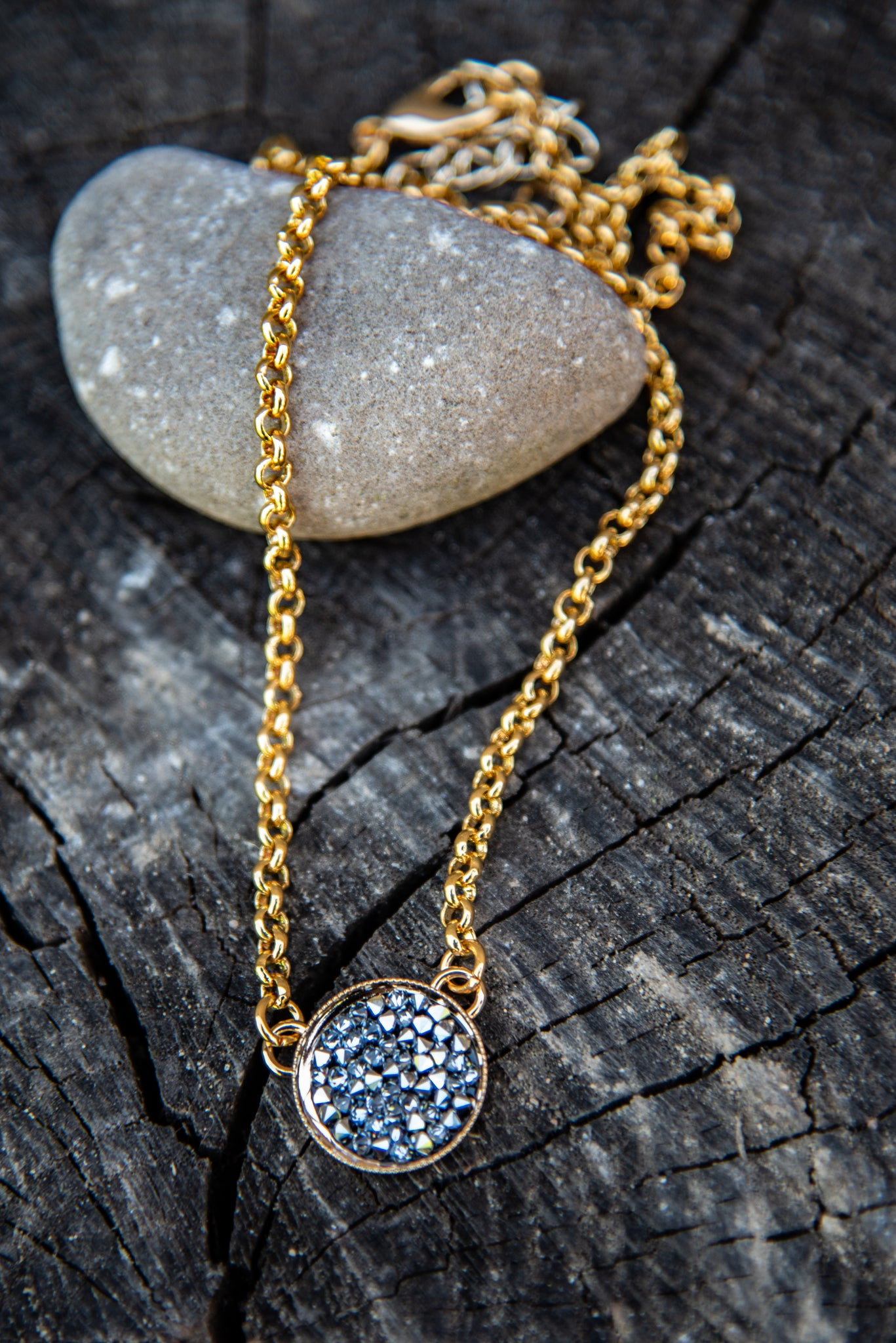 Sage Crystal Rocks Necklace by Rachel Marie Designs