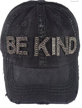 Be Kind bling cap OS black