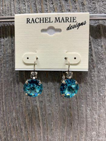Brooke Swarovski Light Turquoise Drop Earring by Rachel Marie Designs