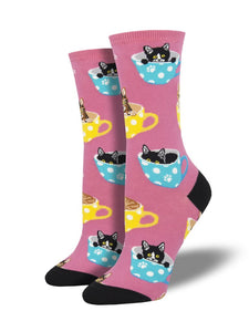 "WOMEN'S ""CAT-FEINATED"" SOCKS"