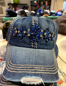 Zoey Denim distressed BB cap