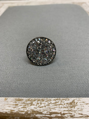Ember Calcomet Swarovski Crystal Adjustable Ring by Rachel Marie Designs