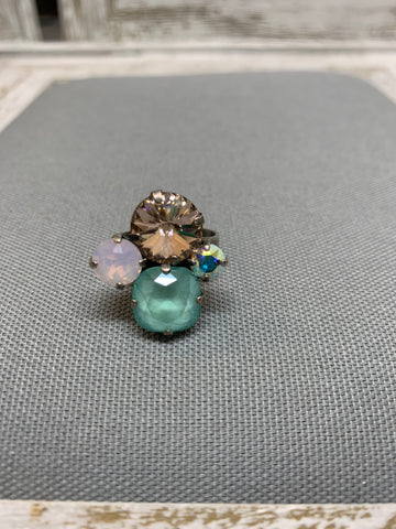Sunday Brunch Quinn Ring Swarovski Crystal Adjustable Ring by Rachel Marie Designs