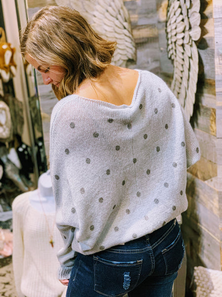 Metalic Dot light weight sweater