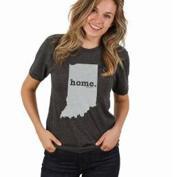 Indiana State Crew Neck T-Shirt by The Home T