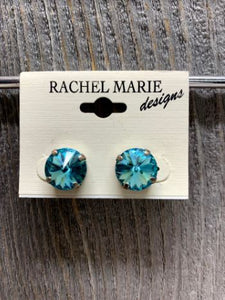Janna Light Turquoise Swarovski Earring by Rachel Marie Designs