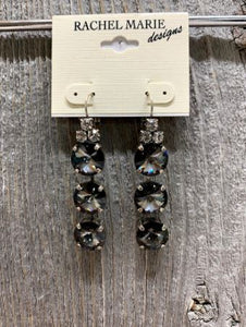 Jasmine Silvernight Swarovski Drop Earring by Rachel Marie Designs