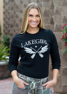 Winged Paddles LS Crew Neck by Lakegirl