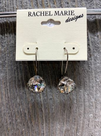 Mary Silver Patina Swarovski Drop Earring by Rachel Marie Designs