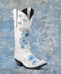 Alamosa white leather boots size 6.5