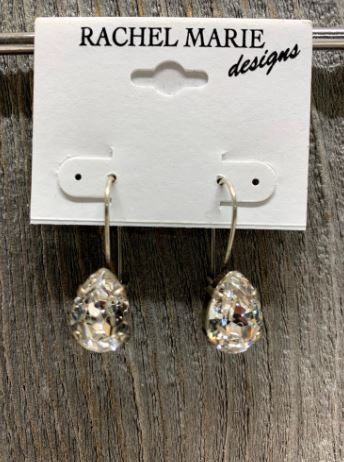 Pearshape Swarovski Drop Earring by Rachel Marie Designs