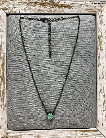 Tempo Silky Sage Swarovski Crystal Necklace by Rachel Marie Designs