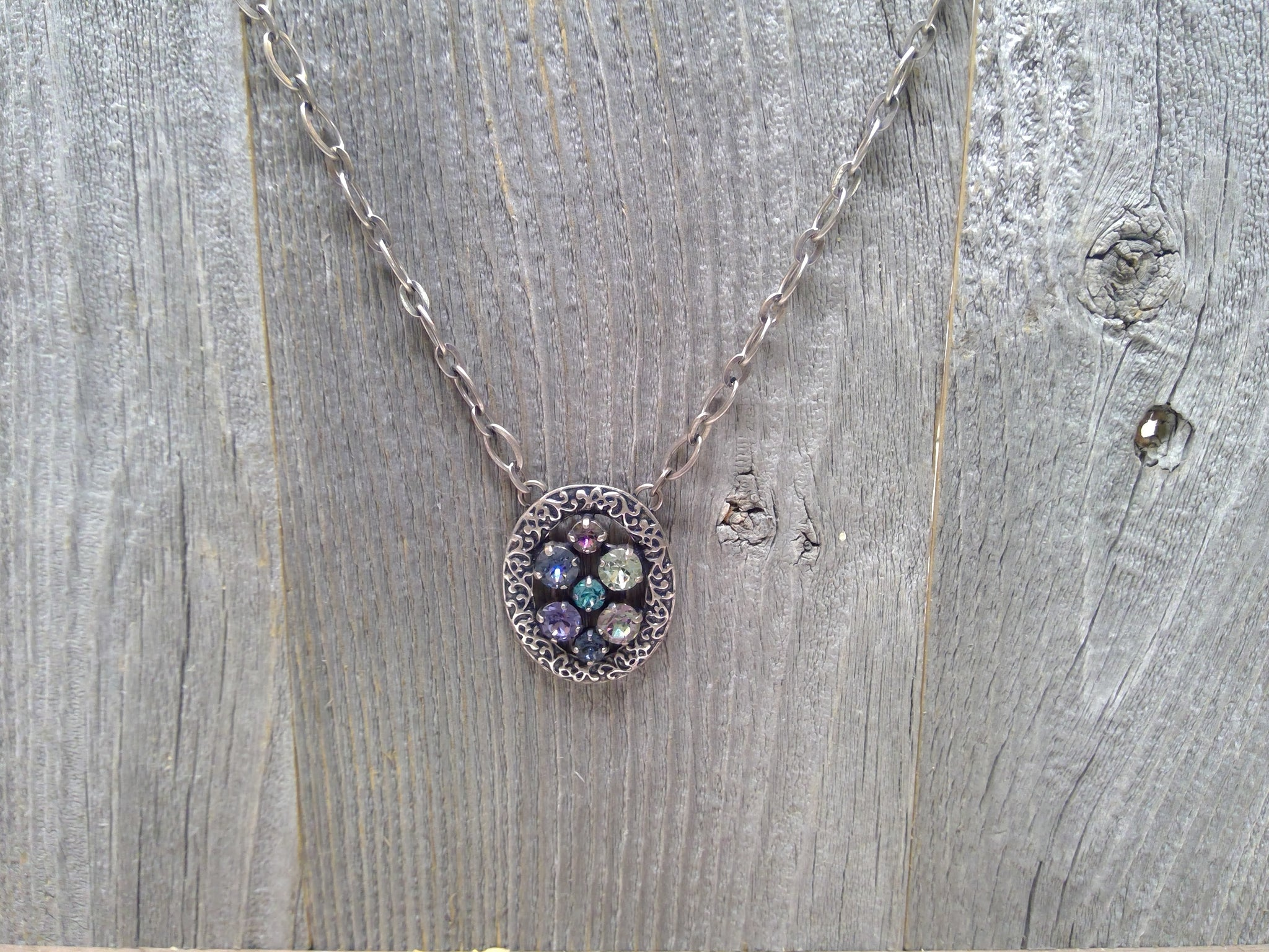 Waterlily Collection Swarovski Crystal Necklace by Rachel Marie Designs
