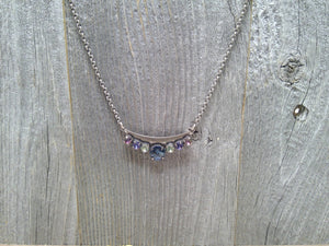 Maggie Bar Swarovski Crystal Necklace by Rachel Marie Designs