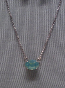 Tempo Necklace Pacific Opal Swarovski Crystal Necklace by Rachel Marie Designs