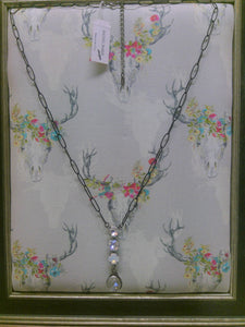 One of a Kind Hand Soldered Pendant & Swarovski Crystal Necklace by Rachel Marie Designs