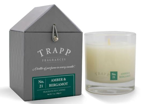 Amber Bergamot Scent Trapp Candle