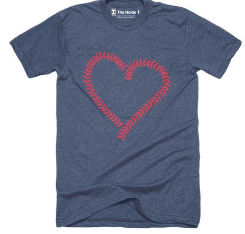 Baseball Heart Design T-Shirt by The Home T