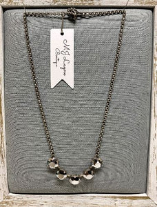 Cushion Swarovski Chrome Crystal Necklace by Rachel Marie Designs