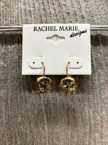 Gold Patina Swarovski Earring by Rachel Marie Designs