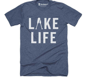 Lake Life Design T-Shirt by The Home T