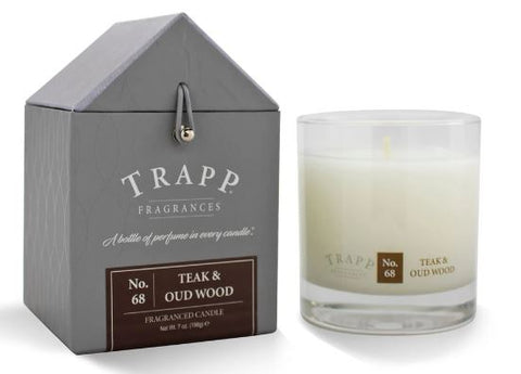 Teak & Oud Wood Scent Trapp Candle