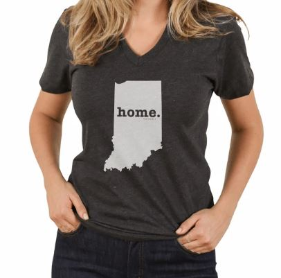 Indiana State V-Neck T-Shirt by The Home T
