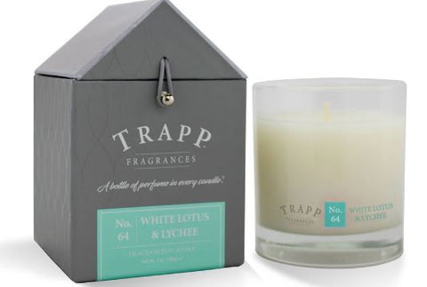 White Lotus Lychee Scent Trapp Candle