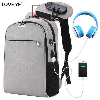 Teenager USB antitheft password backpacks Lightweight men's and women's travel Laptop school bag shoulder bag mochilas de escola - My Active Store