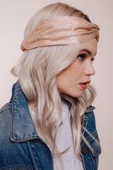 Silk Headwrap Baby Love Nude