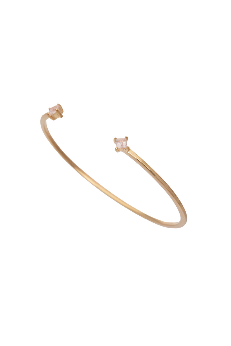 Alex Cuff Gold Rose Quartz