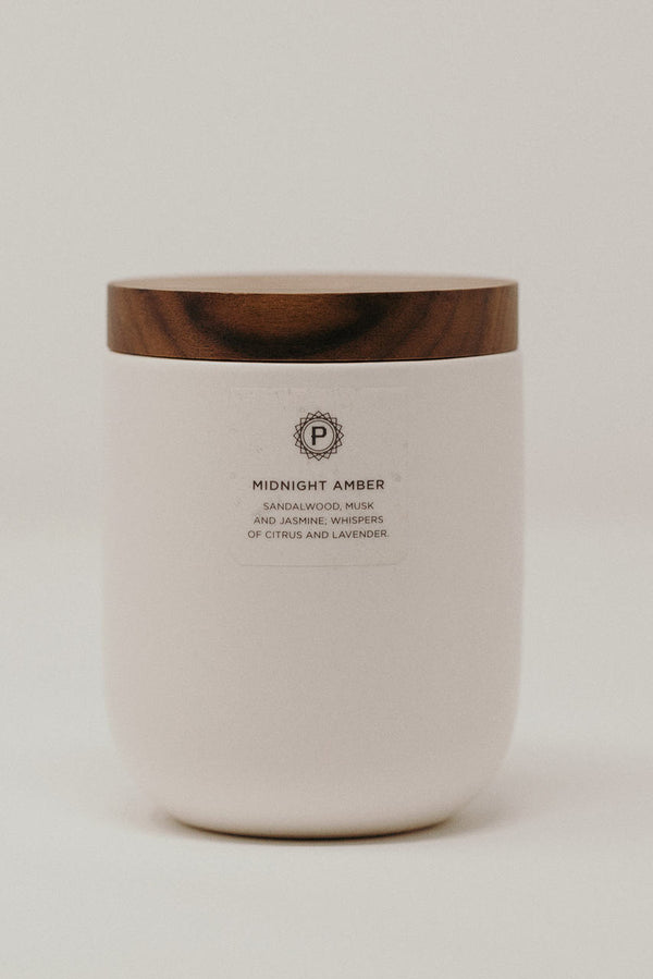 Midnight Amber Ceramic Candle