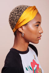 Marigold Silk Headwrap