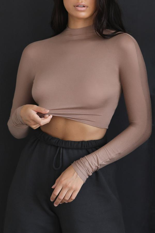 Cropped Mock Neck Sienna