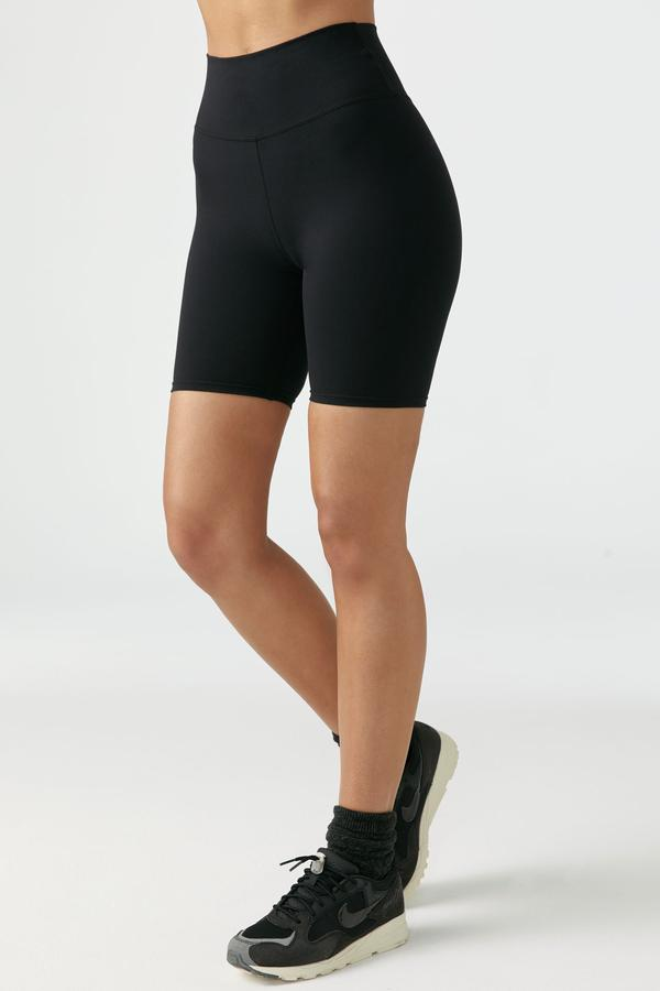 The Biker Short Sueded Onyx