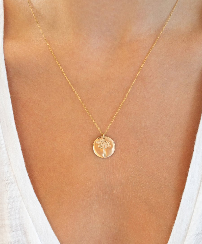 Joshua Tree Coin Necklace