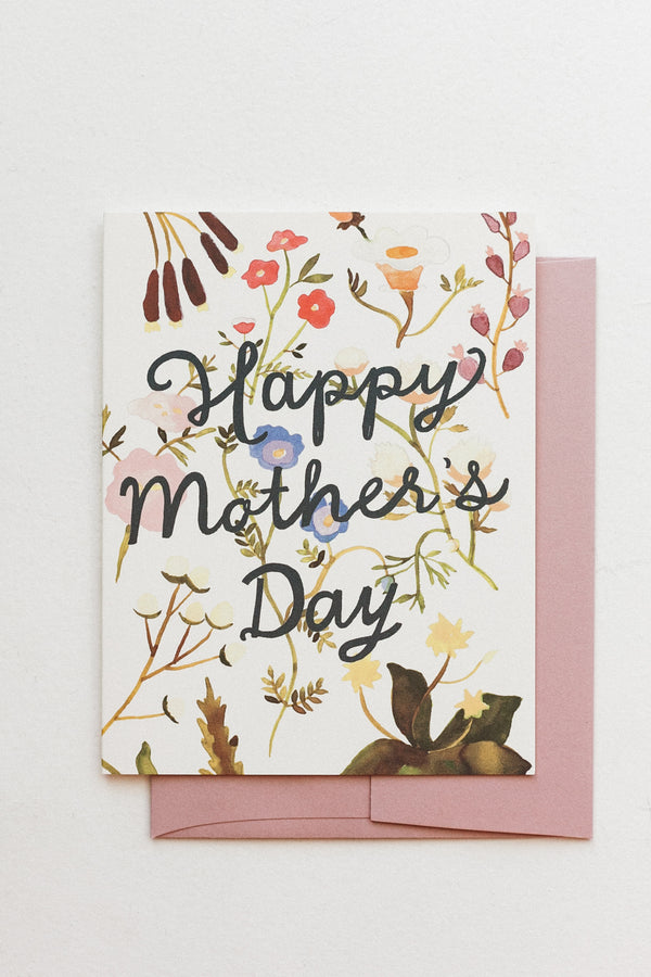 Mothers Day Wildflowers Card