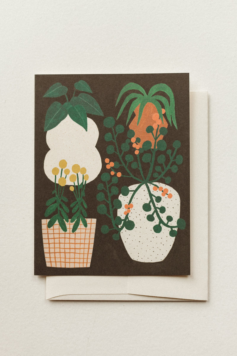 Potted Plants Blank Card