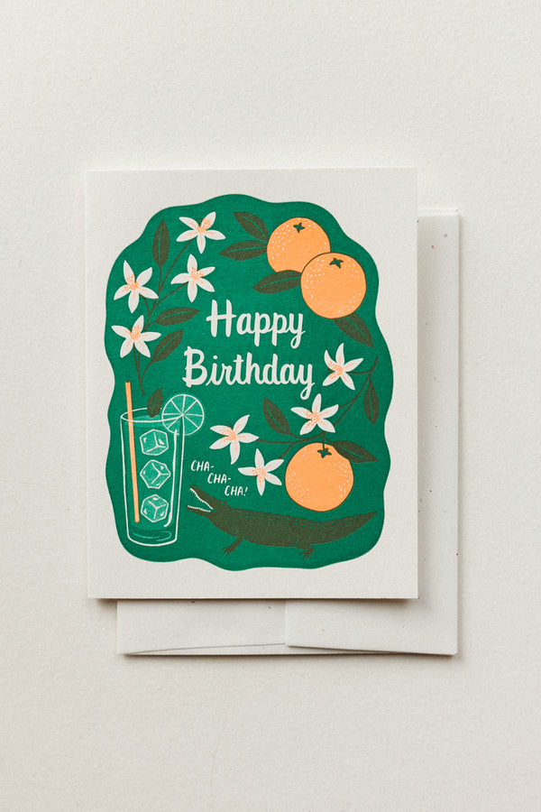 Birthday Cha Cha Card