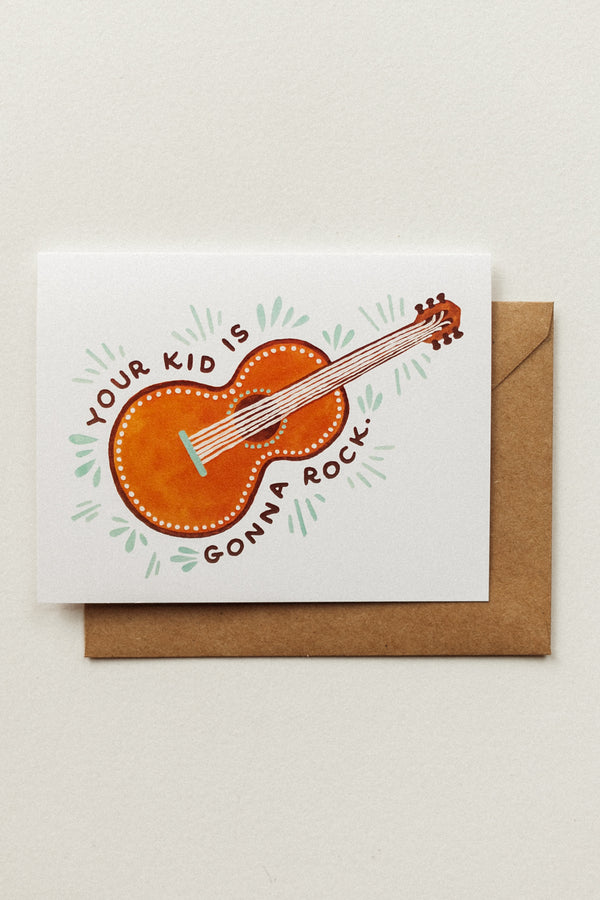 Guitar Kid Card