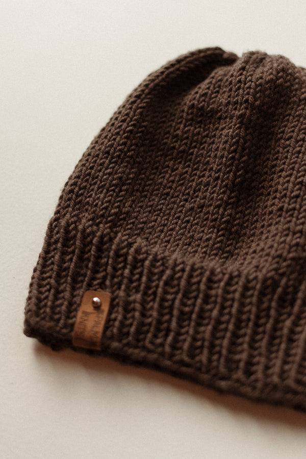 Wool Blend Beanie Earth