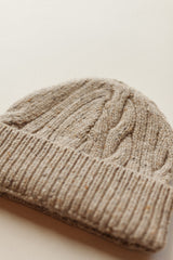 Cable Knit Beanie Oatmeal