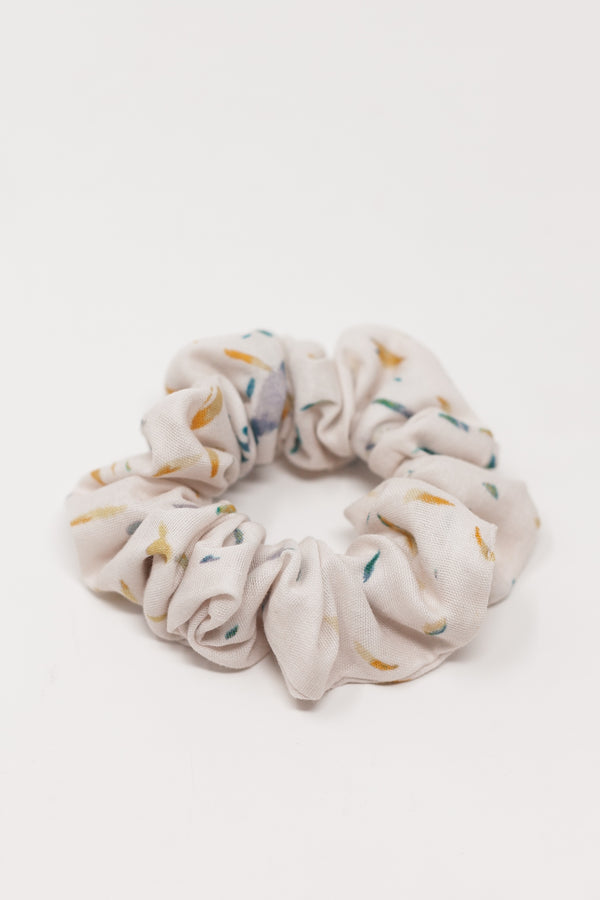 Blue Petal Double Gauze Scrunchie