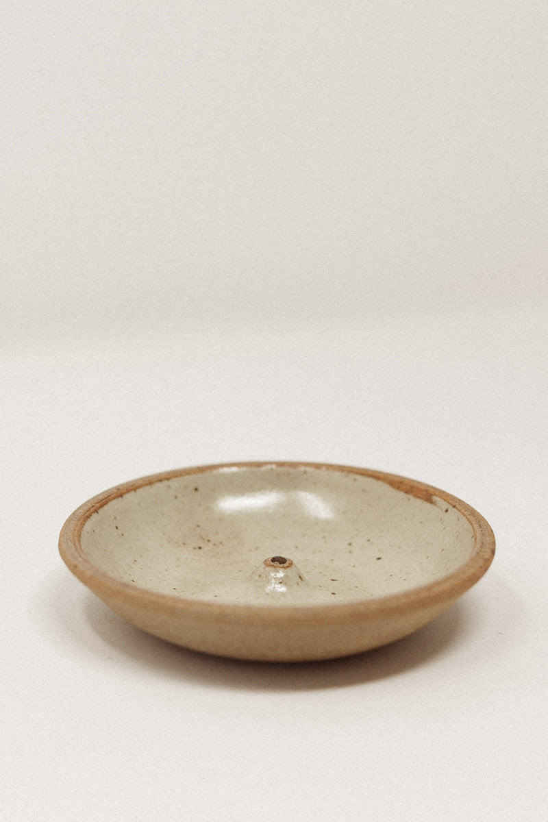 Stoneware Incense Holder Piker White